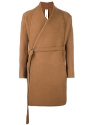 Damir Doma Belted Kimono Coat Nude And Neutrals