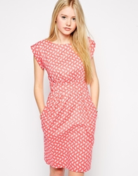 Emily And Fin Emily And Fin Sophie Printed Dress 727Red