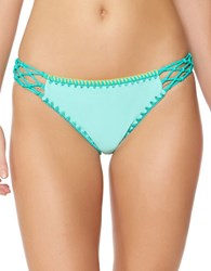 Jessica Simpson Woodstock Solids Side Braided Hipsters Seafoam