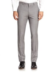 J. Lindeberg Paulie Modern Fit Wool Trousers Grey Melange