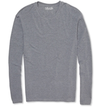 Derek Rose Long Sleeved Stretch Micro Modal T Shirt Gray