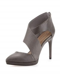 Bcbgmaxazria Davis Leather Cutout Bootie Frost Grey