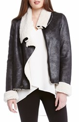 Women's Karen Kane Asymmetrical Faux Shearling Jacket