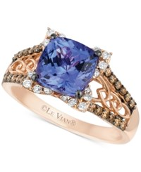 Le Vian Blueberry Tanzanite 2 Ct. T.W. And Diamond 3 8 Ct. T.W. Ring In 14K Strawberry Rose Gold Purple