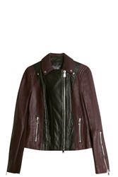 Vince Motto Leather Jacket Multi