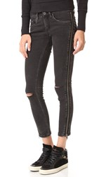 Blank Side Zipper Jeans Wicked Hard