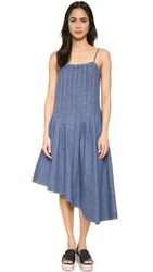 Suno Asymmetrical Denim Dress