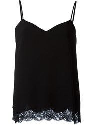Theory Lace Tank Top Black