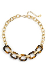 Lauren Ralph Lauren Faux Tortoiseshell Link Necklace Brown