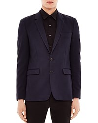 Sandro Structured Knit Blazer Marine