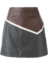 Sonia Rykiel By Panelled A Line Skirt Blue