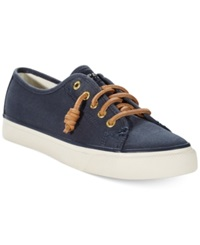 Sperry Women's Seacoast Canvas Sneakers Women's Shoes Navy