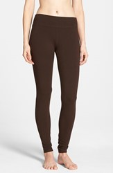 Women's Hue 'Ultra' Wide Waistband Leggings Espresso