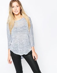 Wal G Knitted Top Blue