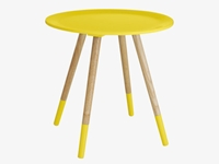 Blossom Yellows Lacquered Yellow Side Table Habitatuk