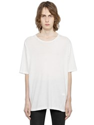 Saint Laurent Oversize Destroyed Cotton Jersey T Shirt
