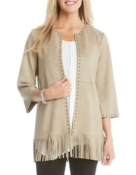 Karen Kane Studded Fringe Jacket Copper