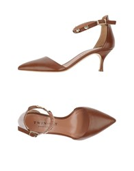 Twin Set Simona Barbieri Footwear Courts Women Camel