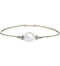 Annoushka Frost Pearl 14Ct Yellow Gold And Sapphire Bangle