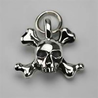 Stephen Einhorn Skull And Crossbone Charm Silver