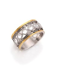 Coomi Silver Opera Diamond Crystal 20K Yellow Gold And Sterling Silver Ring Silver Gold