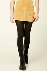 Forever 21 Opaque Stirrup Tights Black