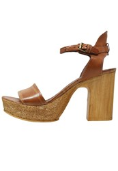 Mjus Florida High Heeled Sandals Caramel Cognac