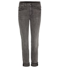 Helmut Lang Ankle Skinny Cropped Jeans Grey