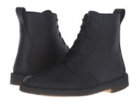 Clarks Desert Mali Boot Black Beeswax Leather Men's Lace Up Boots
