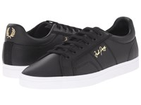 Fred Perry Sidespin Leather Black Men's Lace Up Casual Shoes