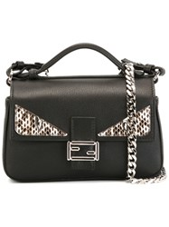 Fendi 'Double Baguette' Crossbody Bag Black