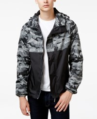Superdry Men's Camo Dual Zip Arctic Jacket Black Grey Camo