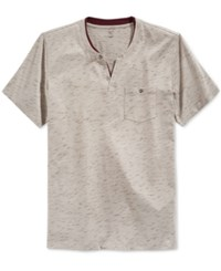Inc International Concepts Static Shock Henley Only At Macy's City Taupe
