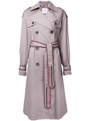 Katharine Hamnett Belted Trench Coat Brown