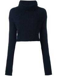 Valentino Cropped Jumper Blue