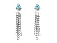 Guess Bird Arrow Front To Back Trio Earrings Set Silver Crystal Turquoise Earring Blue