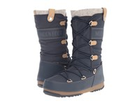 Tecnica Moon Boot Monaco Felt Blue Denim Women's Cold Weather Boots