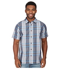 The North Face Short Sleeve Pacific Coast Shirt Cosmic Blue Men's Short Sleeve Button Up