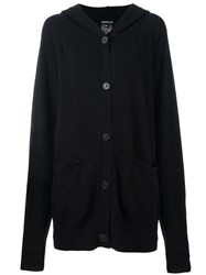 Ann Demeulemeester Button Down Hooded Cardi Coat Black