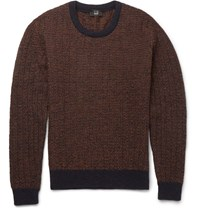 Dunhill Shetland Wool Sweater Brown
