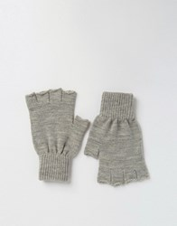 Asos Fingerless Gloves In Grey Marl Grey Marl