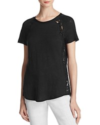 Rebecca Taylor Lace Panel Tee Black