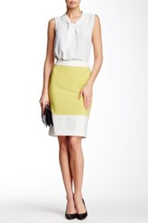Nine West Colorblock Skirt Yellow