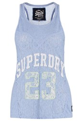 Superdry Top Beach Blue Light Blue