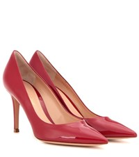 Gianvito Rossi 85 Patent Leather Pumps Red