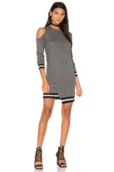Pam And Gela Cold Shoulder Dress Gray