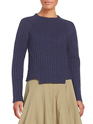 Marc By Marc Jacobs Wool And Cotton Knit Sweater Dark Ocean