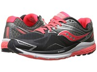 Saucony Ride 9 Grey Charcoal Coral Women's Running Shoes Black