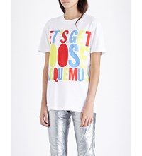 House Of Holland Jacquemus Cotton Jersey T Shirt White Multi