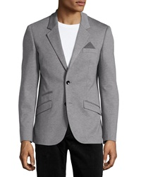 Antony Morato Super Slim Knit Blazer Gray